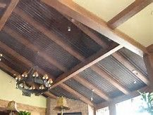 Amazing Corrugated Tin Ceiling #9 Corrugated Metal Ceiling In Home