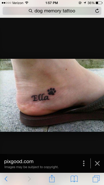 Pet memorial tattoo