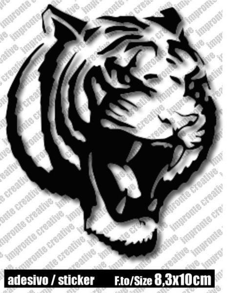 Adesivo Sticker TIGRE/TIGER di impronte creative shop su DaWanda.com