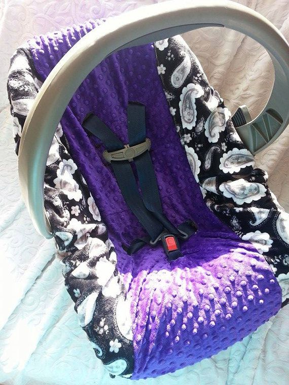 Car seat cover  Car seat minky slip cover by KnuffelStuff on Etsy