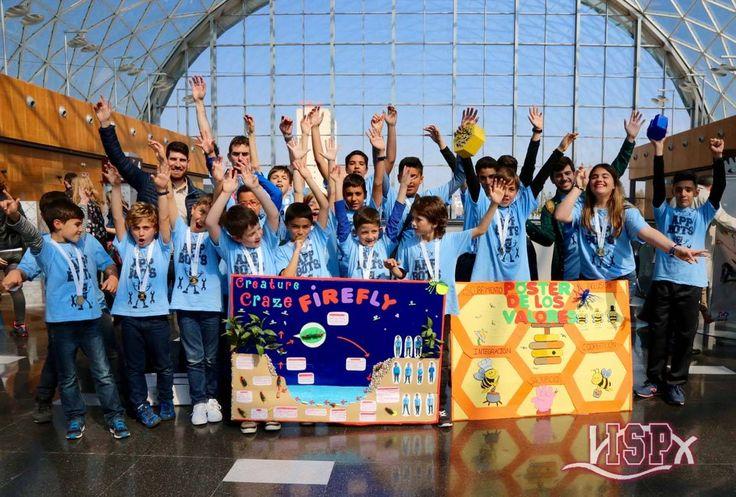 #APPBOTS, grupo de #RobóticaISP de #ColegiosISP ha participado en la  6ª @FLLSpain #FLLCEU en Valencia. El equipo junior expuso su proyecto científico en inglés.