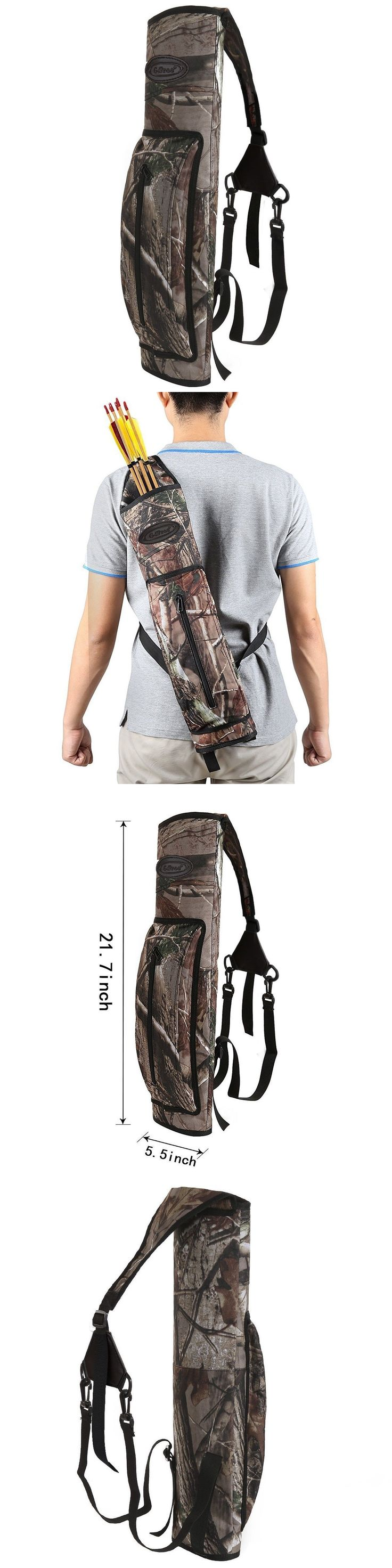 Quivers 20843: G4free Archery Deluxe Canvas Back Arrow Quiver Hunting Target Arrow Quiver -> BUY IT NOW ONLY: $35.29 on eBay!