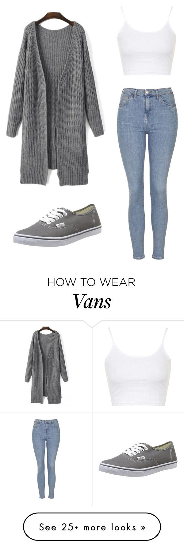 """:3"" by deima-835 on Polyvore featuring Topshop and Vans"