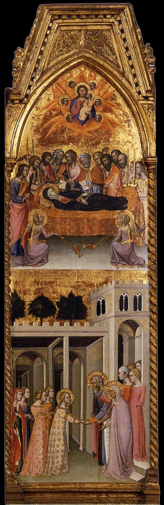 BARTOLO DI FREDI The Coronation of the Virgin (detail) 1388 Tempera on panel Museo Civico e Diocesano d'Arte Sacra, Montalcino