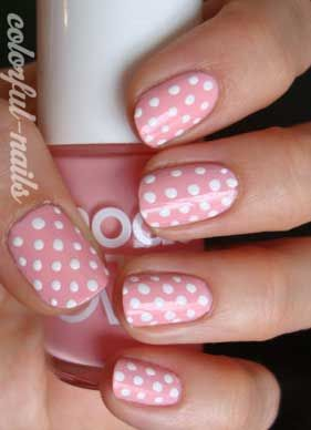 Polka nails- valentines day?