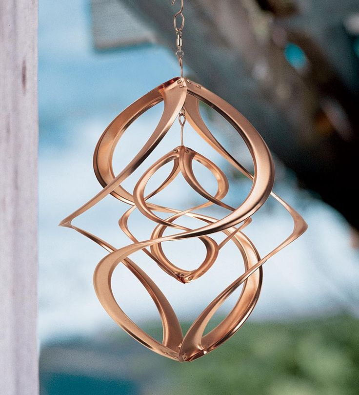 This Double Spin Wind Spiral Is True Wind Art. Featuring Shimmering Copper  Spirals, Our Decorative Wind Spiral Twirls In The Breeze.