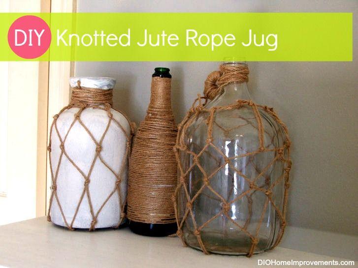 DIY Knotted Jute Rope Jug - Ballard Designs Knockoff