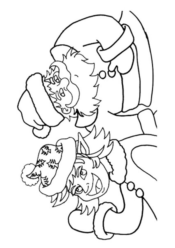 free online santa colouring page kids activity sheets christmas colouring pages - Colouring Activity