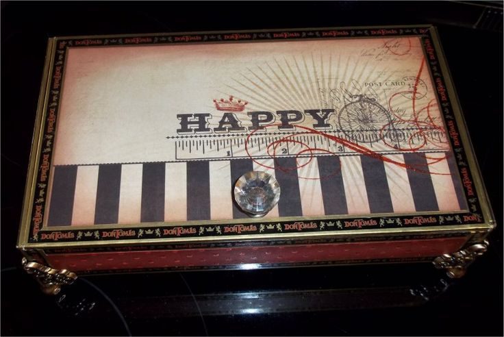 One of these days, I really will get back to doing some cards :)   BUT...for now...you are stuck with altered cigar boxes....at least until ...