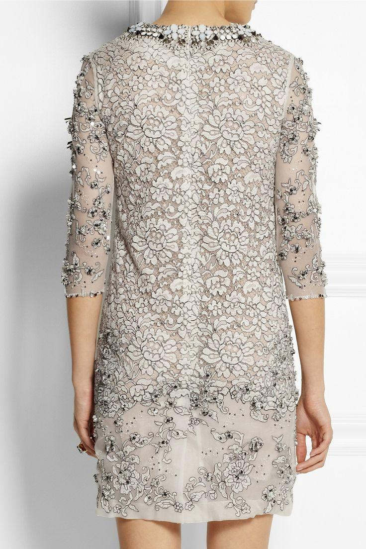 Biyan|Lisbeth embellished lace dress|NET-A-PORTER.COM