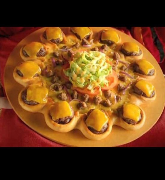 The Burger Pizza Fast Food Items from Around the World - Mandatory
