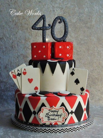 Poker Themed Cake - by cakeworks @ CakesDecor.com - cake decorating website
