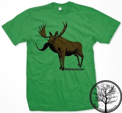 Mustache Moose Shirt :D