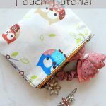 Easy Lined Zipper Pouch Sewing Tutorial