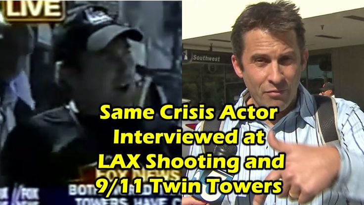 Crisis actor busted! Nick Pugh was interviewed at the LAX shooting and on 9/11 just after the towers came down. Why did the police let him go from an airport...