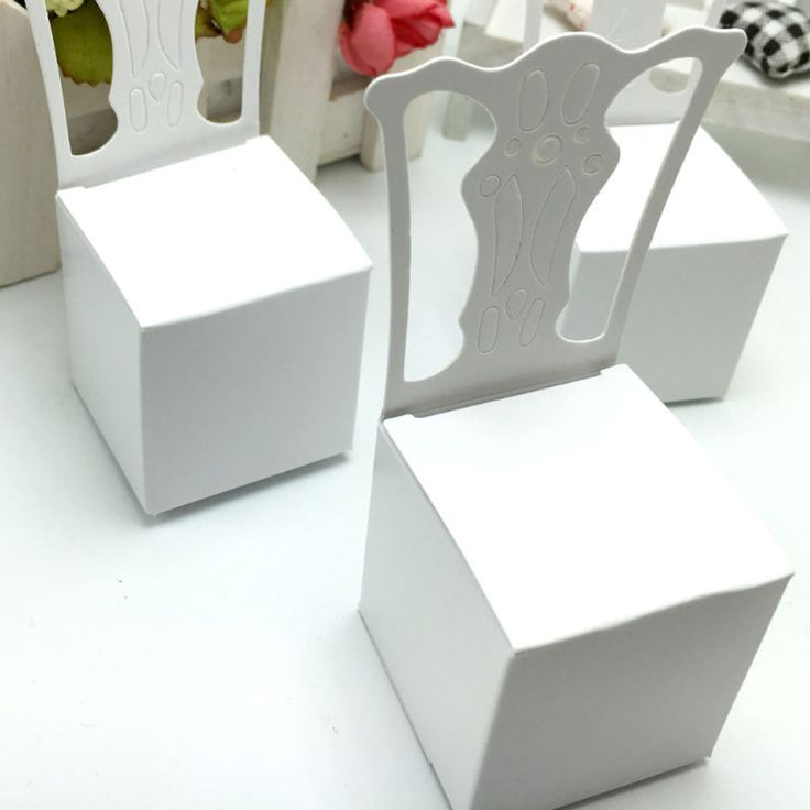 100pcs/lots Chair Shape Place Card Holder Wedding Candy Box Wedding Decoration - Wedding Look