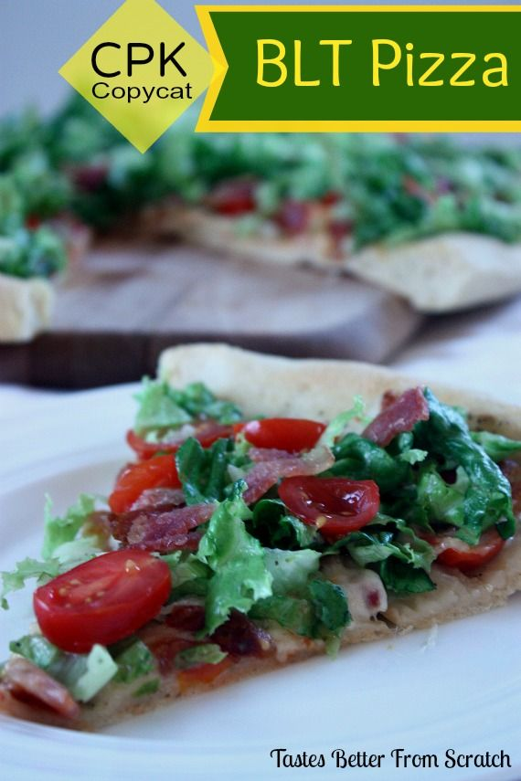 Copycat California Pizza Kitchen BLT Pizza - Thin crust baked with ...