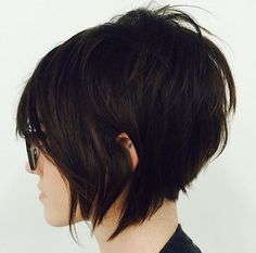Short textured bob. Edgy short cut. By @msbjones11