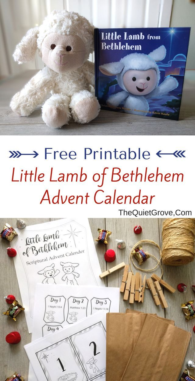 Need Ideas for making Christmas more Christ Centered? Then check out this Free Printable Little Lamb of Bethlehem Advent Calendar via @TheQuietGrove