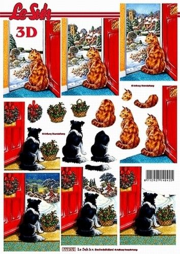 Nieuw bij Knutselparade: 5561 Le Suh knipvel Kerst Hond en kat 777572 https://knutselparade.nl/nl/dieren/4223-5561-le-suh-knipvel-kerst-hond-en-kat-777572.html   Knipvellen, Dieren  -  Le Suh