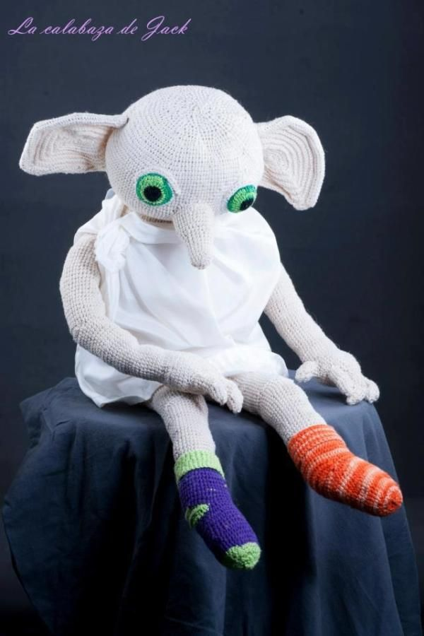 Dobby Harry Potter Amigurumi : Crochet Dobby (Harry Potter) by Cristina Justicia ...