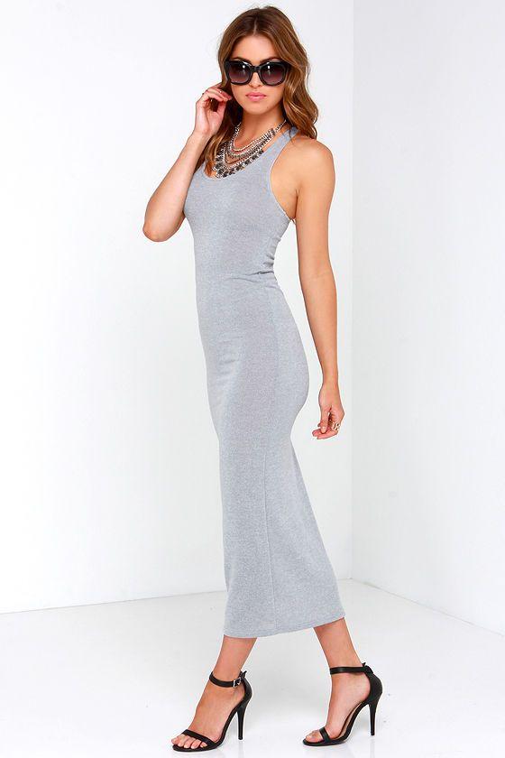 Smash Hit Grey Maxi Dress at Lulus.com!