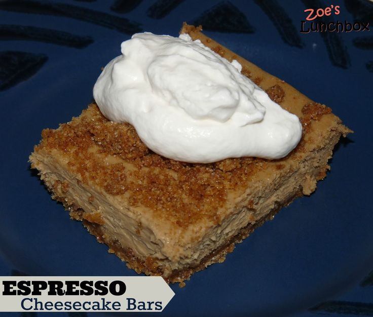 Espresso Cheesecake Bars | Recipes to Try: Desserts | Pinterest