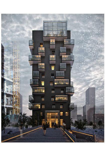 Hotel Torre negra, Ulan Bator Mongolia: del Puerto-Sardin + Grinberg-Konterllnik Architects  http://delpuerto-sardin.com/hotel-en-mongolia/