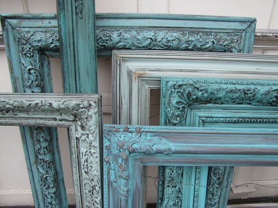 teal painted frame | Originals By CK-Custom Painted Furniture for the Home / Custom Teal ...