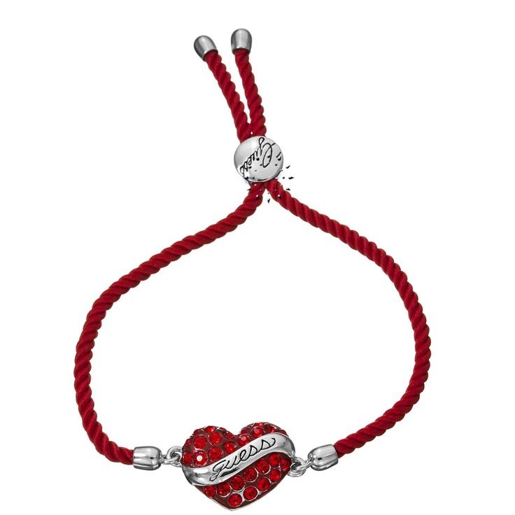 Βραχιόλι καρδιά από ανοξείδωτο ατσάλι της Guess  62€  http://www.kosmima.gr/product_info.php?products_id=14996