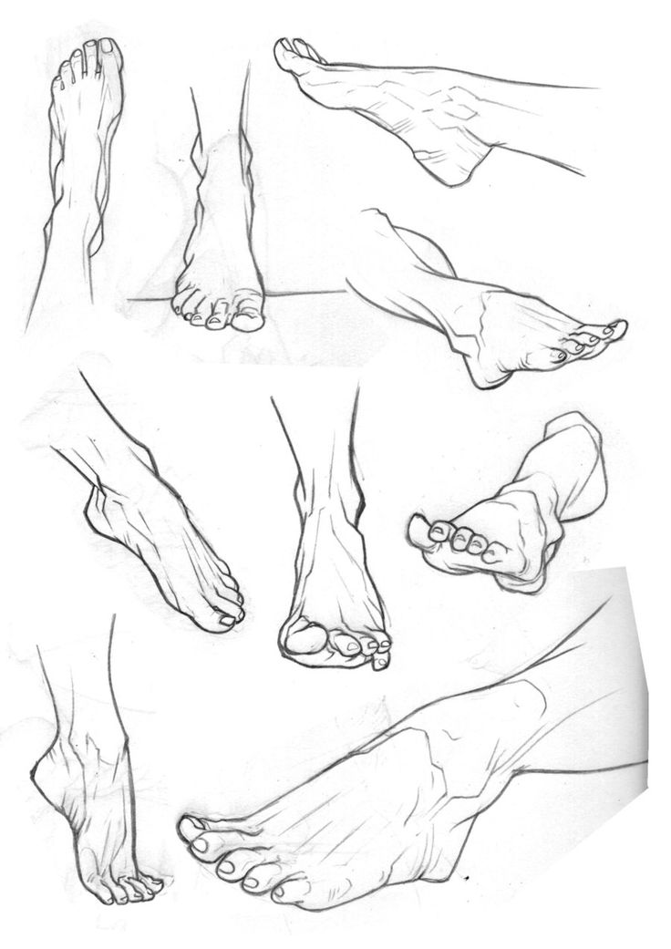 Sketchbook Feet 2 by Bambs79 https://www.facebook.com/CharacterDesignReferences & http://www.pinterest.com/characterdesigh