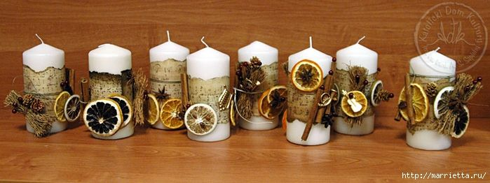 Create candles with food and natural materials (66) (700x262, 180Kb) This website has many great ideas and tutorials for creative candles. I had Google Translate turned on since it's in Russian.