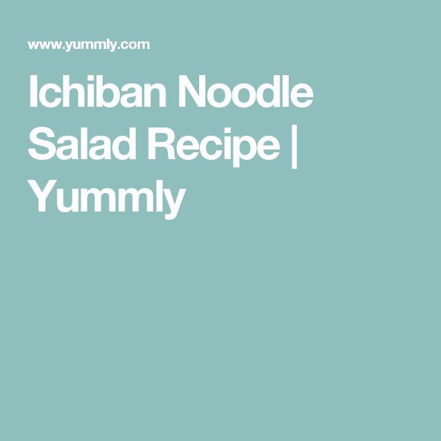 Ichiban Noodle Salad Recipe | Yummly