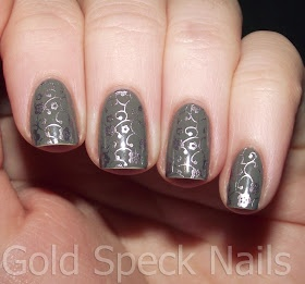 2true Soft Grey stamped with NYC Techno Foil.