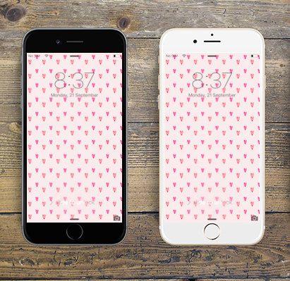 """Pink Hearts"" iPhone 6 digital wallpaper/creative background by LeMounir"