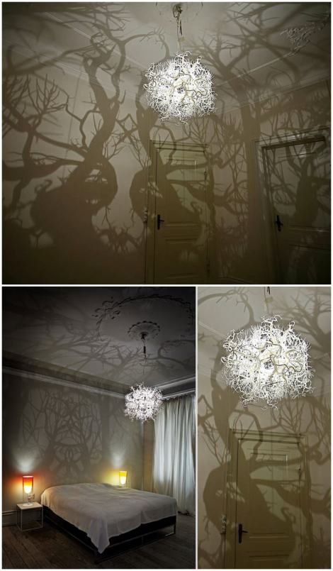 A Chandelier that turns a room Into a forest - HildenDiaz