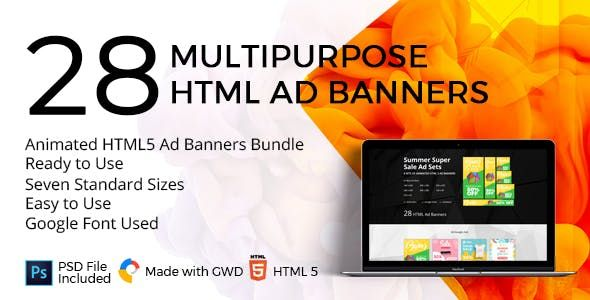 All The Banners Are Designed With Google Web Designer You Will Get Total 04 Banners Set Each Banner Set Have 7 Most Banner Ads Google Web Designer Web Design