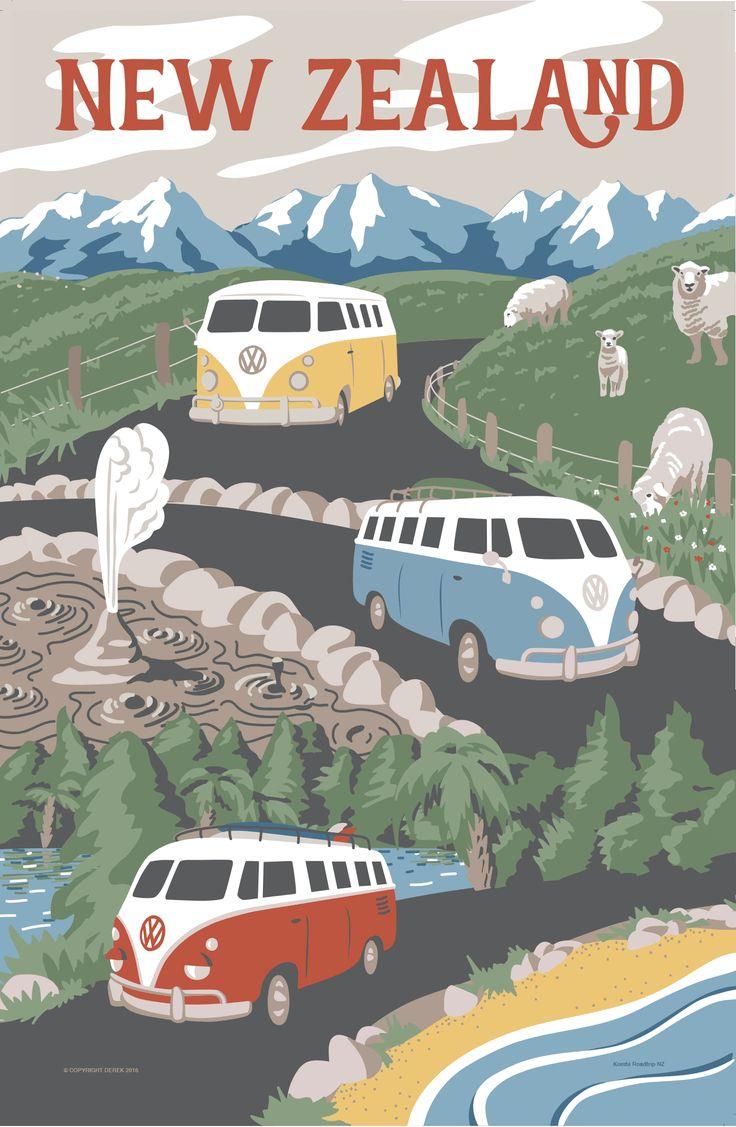 NZ Kombi Roadtrip - Marie Ockleford Design