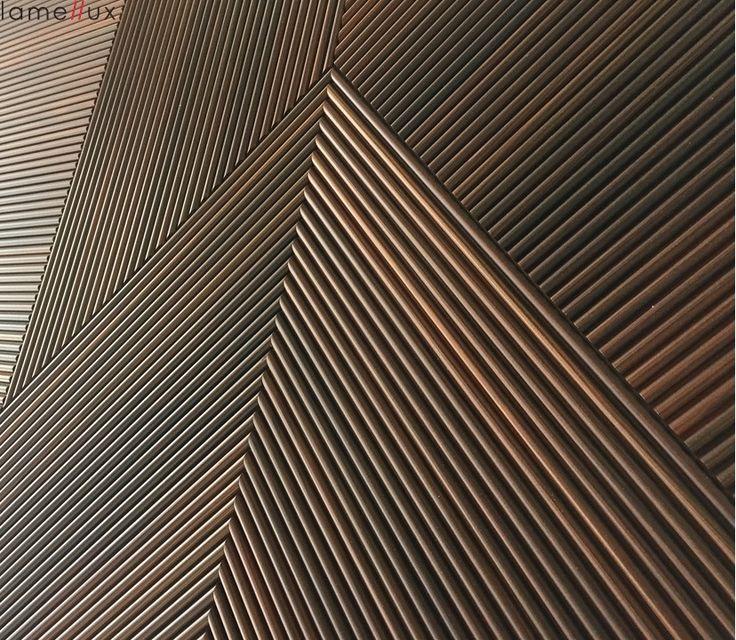 "Lamellux Gamme ""Empreinte"" cannelé 10 mélèze fumé  #lamellux #melezefume #smokedlarch #cannele #luxe #metiersdarts #madeinfrance #ebenisterie #architecture #architecturedinterieur #agencement #craftmanship #luxury #design #interior #interiordesign #woodwork # bespoke"