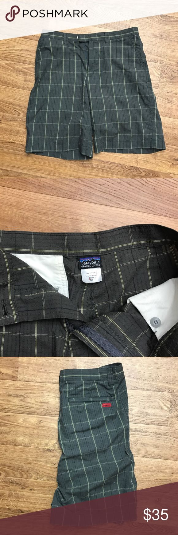 Patagonia Men's Organic Cotton Red Tag shorts. Great shorts. Only flaw is small red dot on size tag (pictured) placed by store to reflect sale item. Bought in a bundle with several other shorts with the elusive Red Tag by patagonia. Patagonia Shorts