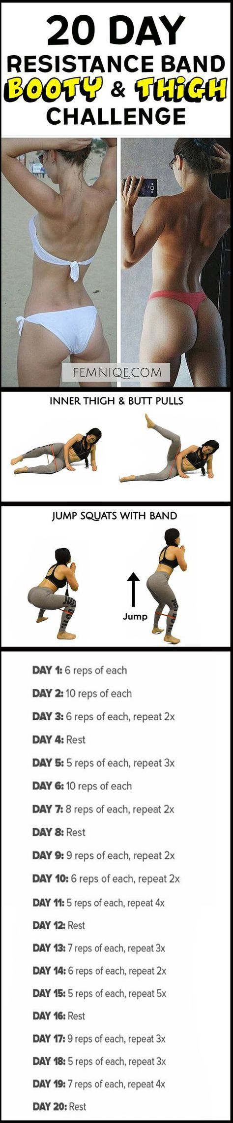 How To Get A Bigger Butt Workout Using Resistance Bands -Bigger Butt Workout at Home For Women - This uniqe and intense routine is one of the best exercise for butt and thighs. After a week you will start to see noticeable changes! (How To Get A Bigger Bu http://amzn.to/2s1FWTh