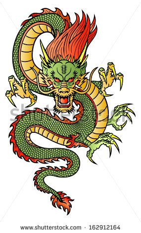 Traditional Asian Dragon. This Is Vector Illustration Ideal For A Mascot And Tattoo Or T-Shirt Graphic. - 162912164 : Shutterstock