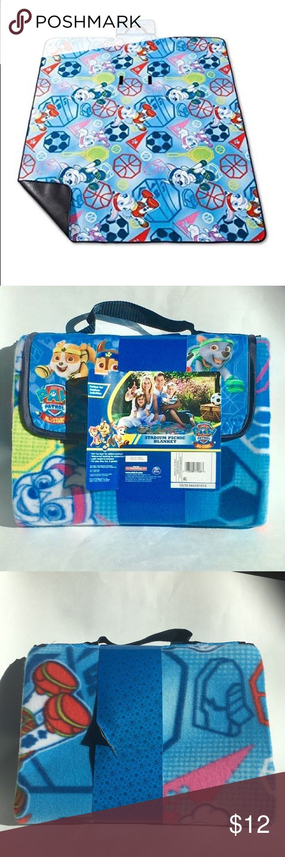 Nick Jr. Paw Patrol Blanket Paw Patrol Stadium Picnic Blanket. Soft top layer for added comfort. Waterproof backing for protection. Light weight & compact. For play time, fun, & games. Nickelodeon Other