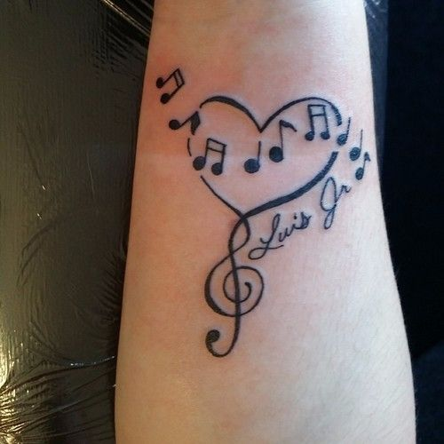 Only Best 25+ Ideas About Music Heart Tattoo On Pinterest