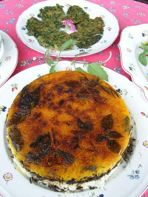 La mia cucina persiana: Sabzi Polo' Mahi , Riso con le erbe e pesce fritto Viva la Primavera, Erbe Aromatiche e Nowruz !