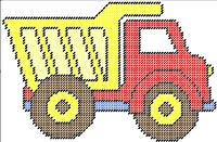 Dump Truck Pattern can be purchased on my website @ http://plasticcanvas.ca     Artwork by ClipArtopia