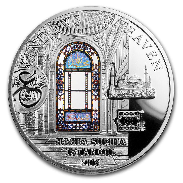 2016 Cook Islands $10 silver coin -Windows of Heaven Hagia Sophia.