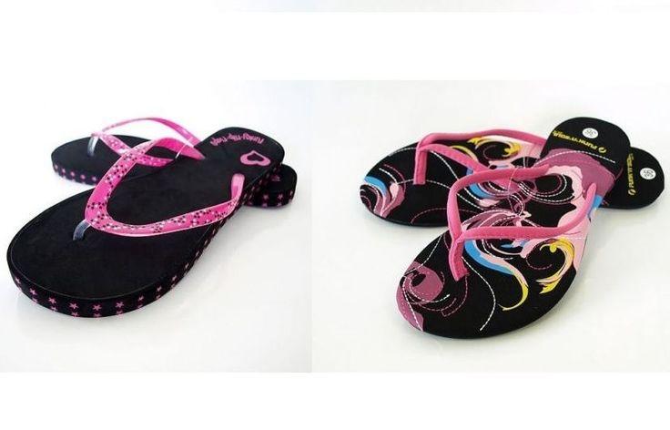 Tongs fantaisie femme sandale de plage été fun-colorés original noir rose 36/37