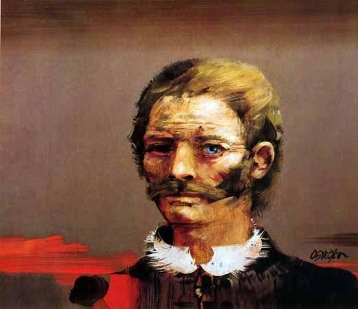 Autoretrato, 1979. Obra de Alejandro Obregón.pintor Colombiano nacido en Barcelona