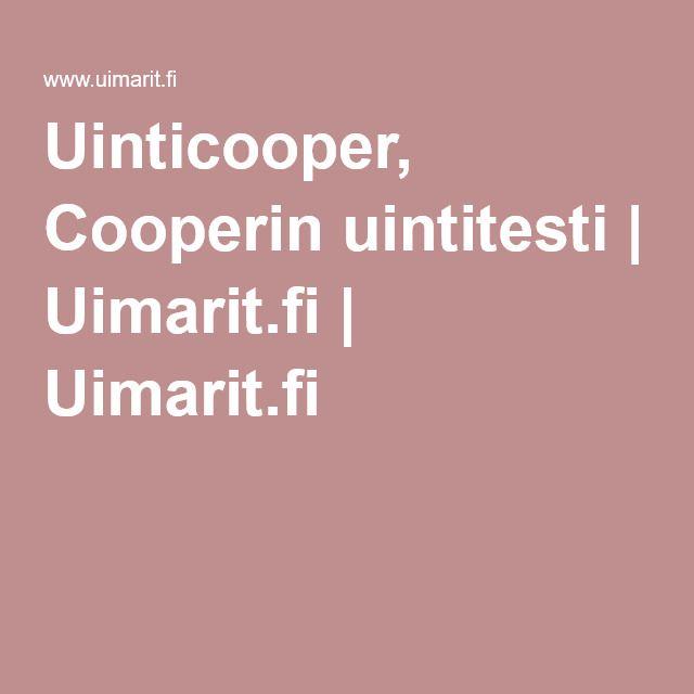 Uinticooper, Cooperin uintitesti | Uimarit.fi | Uimarit.fi